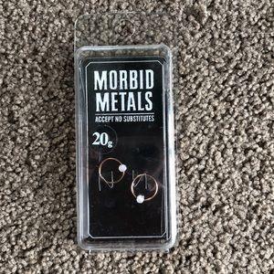 Morbid metals rose gold earrings